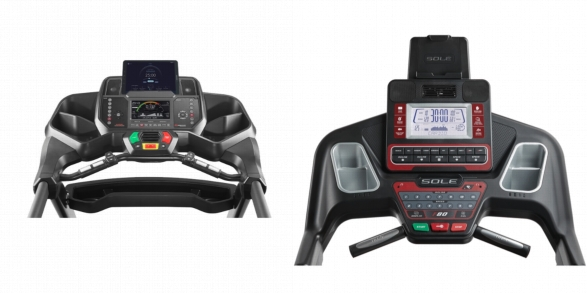 Consoles of Bowflex BXT116 and Sole F80.
