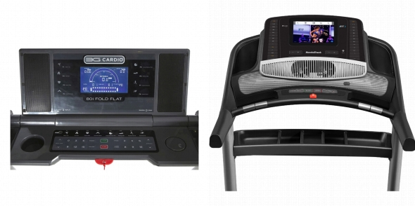 Consoles of 3G Cardio 80i and NordicTrack Commercial 1750.