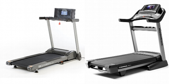 Side by side comparison of 3G Cardio 80i and NordicTrack Commercial 1750 treadmills.