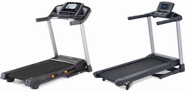 Side by side comparison of NordicTrack T Series 6.5S and LifeSpan TR2000i treadmills.